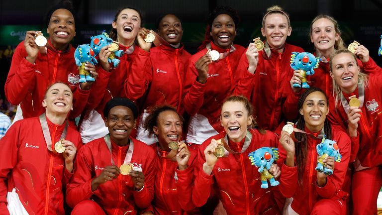 The England netball team won gold at the 2018 Commonwealth Games