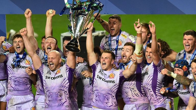 Exeter Chiefs beat Racing 92 to become European champions for the first time