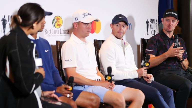 Koyack interviewed Tiger Woods, Justin Thomas, Rory McIlroy and Justin Rose ahead of the Payne's Valley Cup