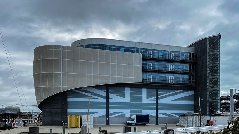 INEOS TEAM UK designed, tested and built their race boats in their headquarters in Portsmouth (Copyright: Paul Laurie - Point Photography)