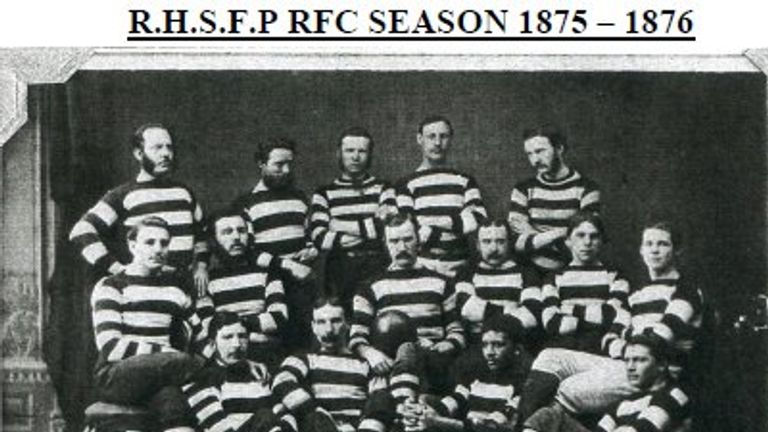 The Royal High School Former Pupils 1875-76 team