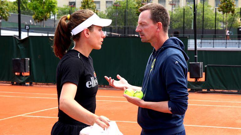 Johanna Konta has split with coach Dimitri Zavialoff for the second time