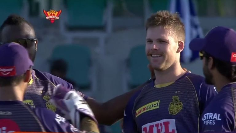 Lockie Ferguson struck late on as KKR rounded off a thumping win over Delhi