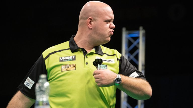 Michael van Gerwen showed signs he may be about to return to his very best form with a dominant opening-day win