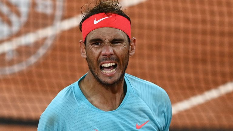 Rafael Nadal took out 19-year-old Jannik Sinner of Italy in a match that finished in the early hours of Wednesday morning in Paris