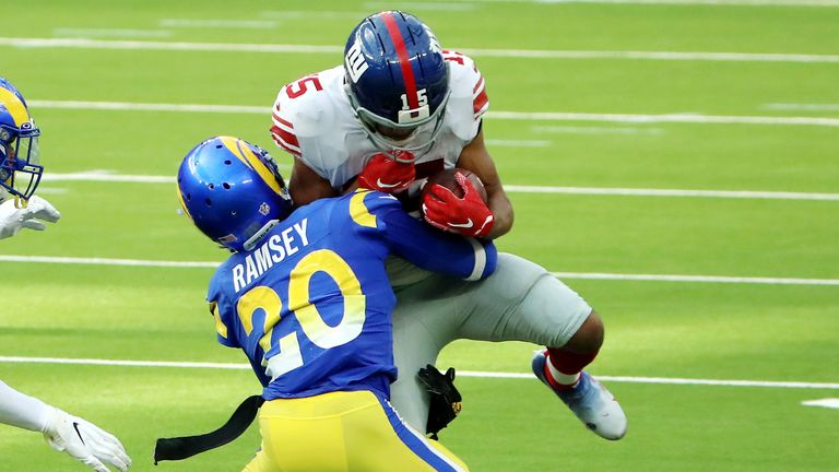 Ramsey tackles Golden Tate of the New York Giants