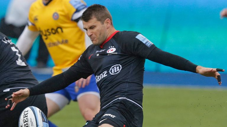 Richard Wigglesworth was making his final appearance for Saracens in the clash with Bath