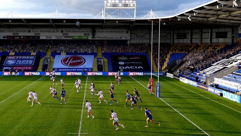 Warrington have tried to give their sponsors prominence during home matches