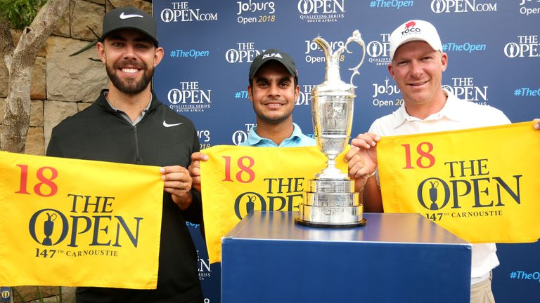 Eric Van Rooyen, Sharma and Shaun Norris earned places in The Open at Carnoustie