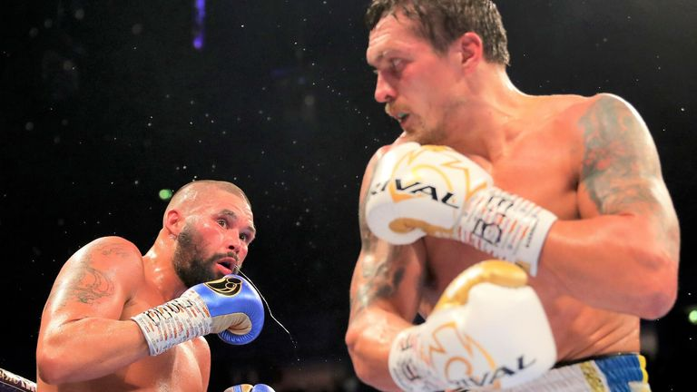 But Usyk ended the fight in the eighth round