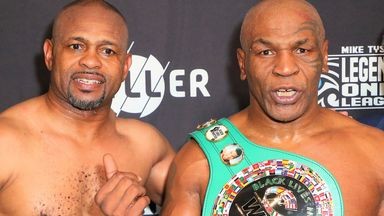 Mike Tyson had to settle for a draw with Roy Jones Jr
