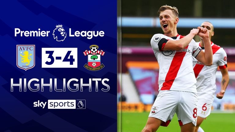 FREE TO WATCH: Highlights from Southampton's win against Aston Villa in the Premier League.