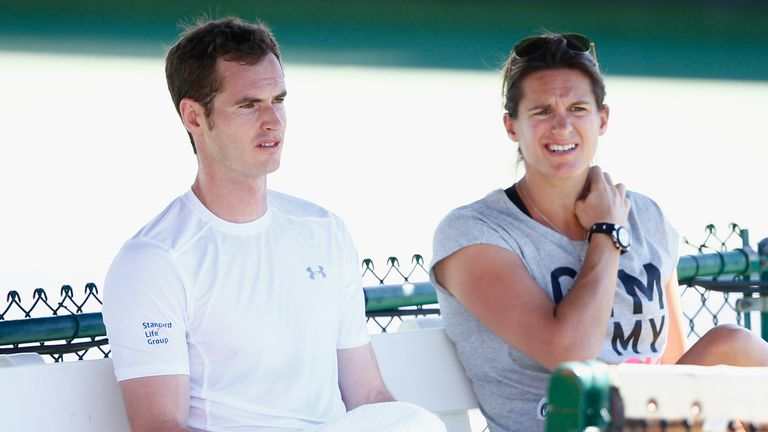 Andy Murray and Amelie Mauresmo had a two-year period together as player and coach