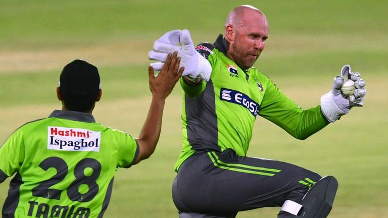 Qalandars wicketkeeper Ben Dunk was on form when Lahore played Karachi in the PSL earlier this season