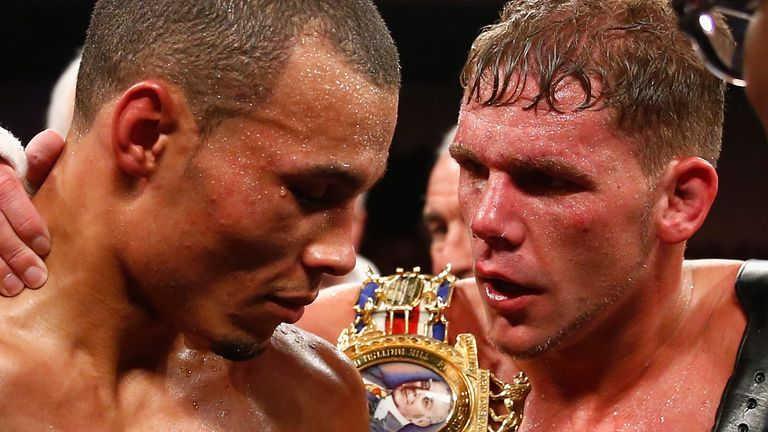 Chris Eubank Jr was edged out by Saunders six years ago