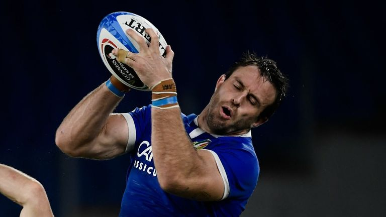 Braam Steyn has switched to No. 8 for Italy, but his back row mates Jake Polledri and Sebastien Negri are both injured.