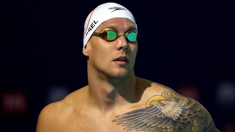 American swimmer Caeleb Dressel also set a new world record in the 100m individual medley
