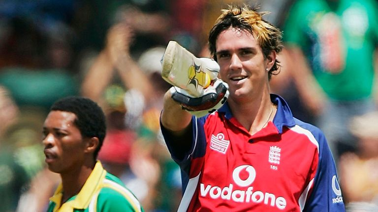 Kevin Pietersen scored three centuries in England's one-day series against South Africa in 2005