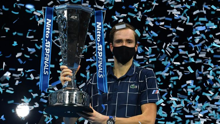 Medvedev won the biggest title of his career at the ATP Finals
