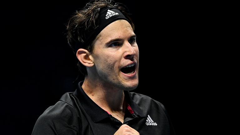 Dominic Thiem gained revenge over Stefanos Tsitsipas at the ATP Finals in London