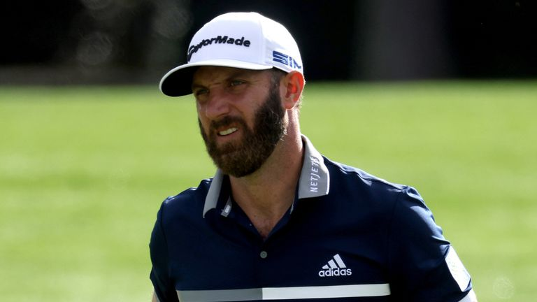 Dustin Johnson holds a share of the lead at The Masters
