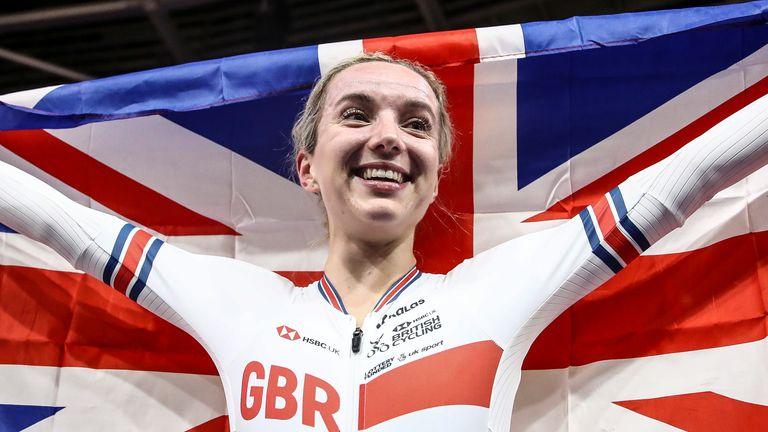Great Britain's Elinor Barker won gold in the women's elimination race