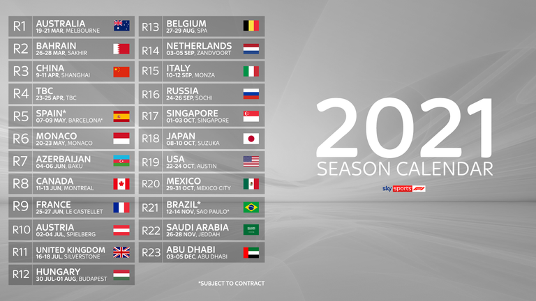 Watch every race live on Sky Sports F1 in 2021