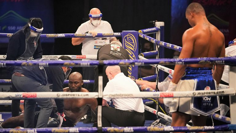 Lartey was dramatically stopped in the second round