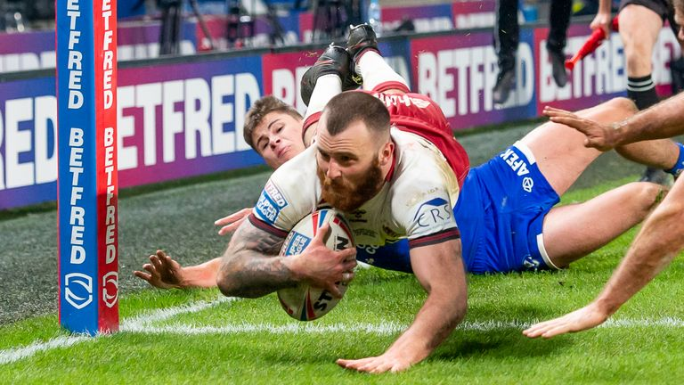 Jake Bibby's try put Wigan ahead with just under 15 minutes to go