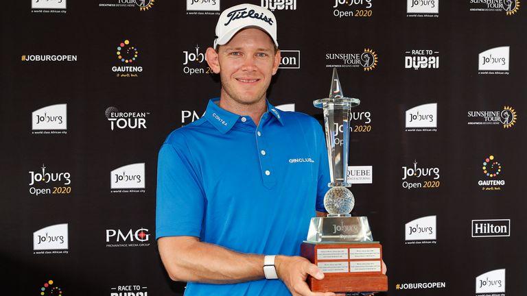 Hansen with his first piece of European Tour silverware