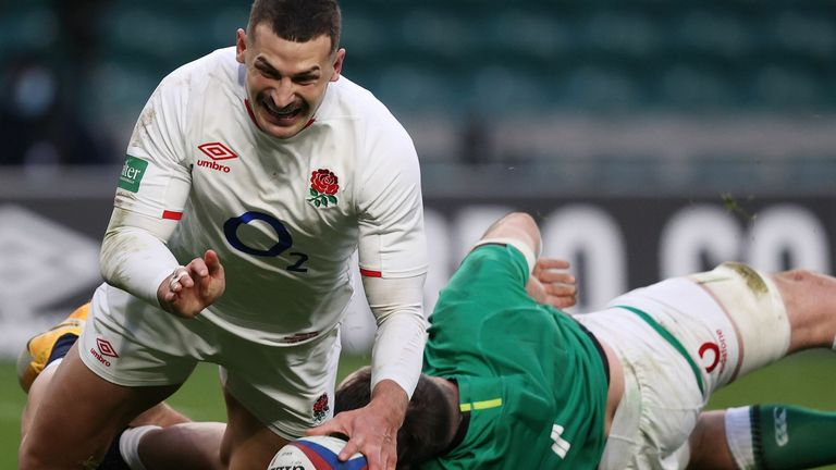 Jonny May ended his five-game drought by scoring two fantastic tries