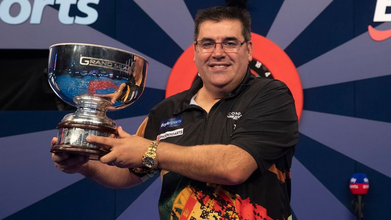 Jose De Sousa produced the performance of his life to beat James Wade and lift the Grand Slam of Darts title