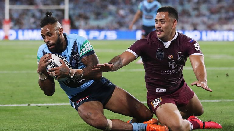 Josh Addo-Carr was superb for NSW and bagged two tries