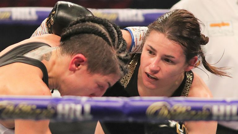 Katie Taylor sealed a wide points victory over Spaniard Miriam Gutierrez