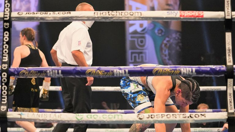 Gutierrez was floored in the closing seconds of the fourth round