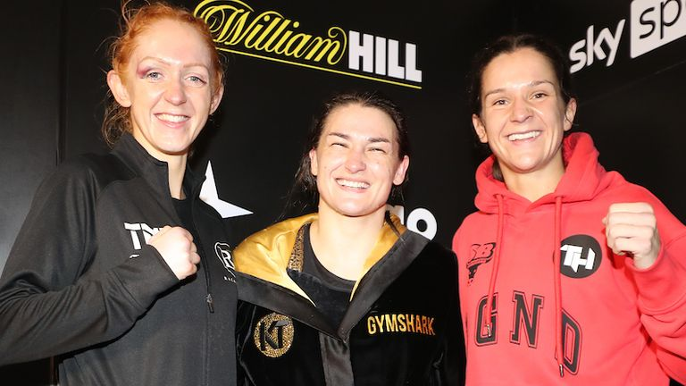 Rachel Ball, Katie Taylor, Terri Harper won on an historic night