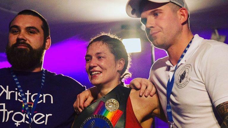 Kristen Fraser celebrated a landmark achievement in Scottish women's sport in her hometown of Aberdeen two years ago