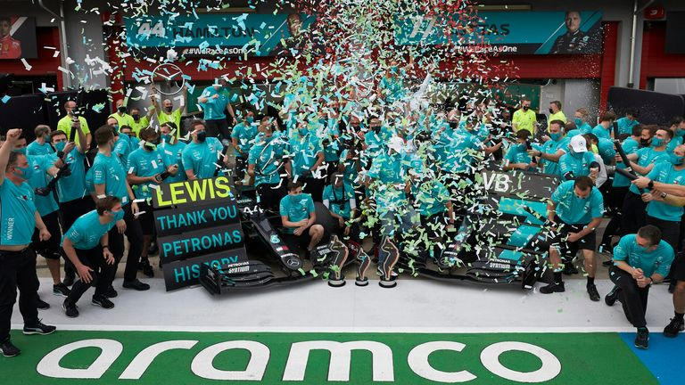 Party time for Mercedes, seven-time F1 constructors' champions