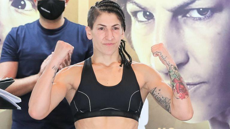 Miriam Gutierrez was marginally lighter at 9st 8lbs 6oz