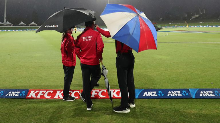 New Zealand's third and final T20 against West Indies washed out as Black Caps win series 2-0 | Cricket News