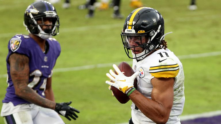 The Pittsburgh Steelers beat the Baltimore Ravens 28-24 in their first matchup in Week Eight of the season
