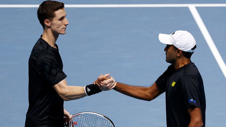 Rajeev Ram (right) and Joe Salisbury have qualified for the semi-finals of the doubles