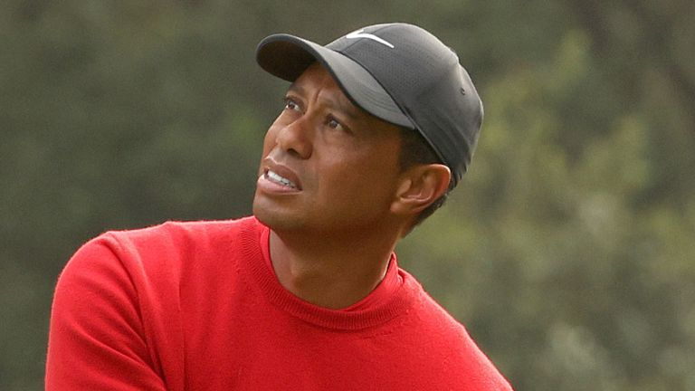 Tiger Woods' ten took him to nine over for his round after 12 holes
