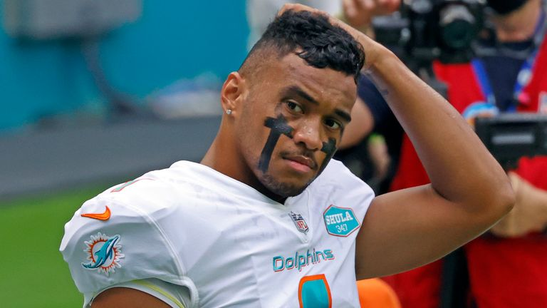 Tua Tagovailoa has struggled down the stretch for the Dolphins as they missed out on the playoffs
