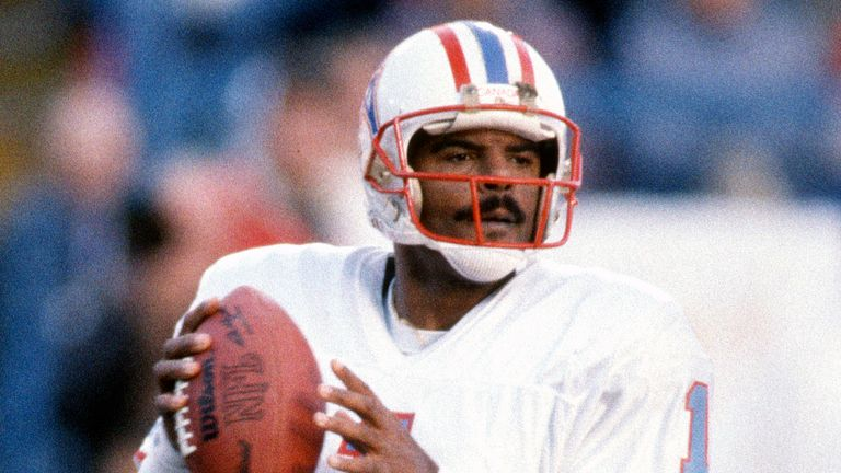 Former Houston Oilers quarterback Warren Moon was voted into the Hall of Fame in 2006