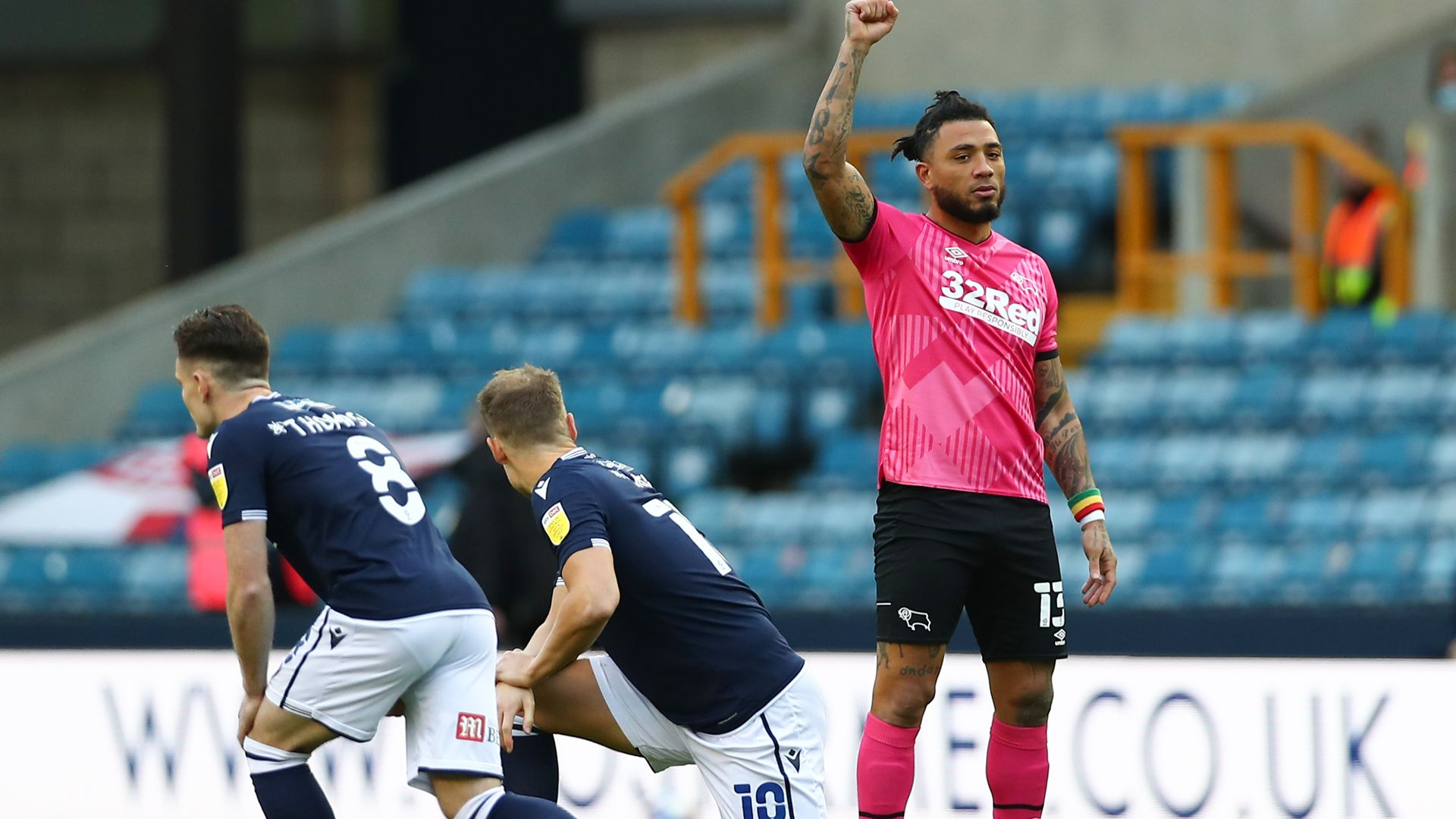 Millwall 'dismayed and saddened' as fans boo players taking a knee