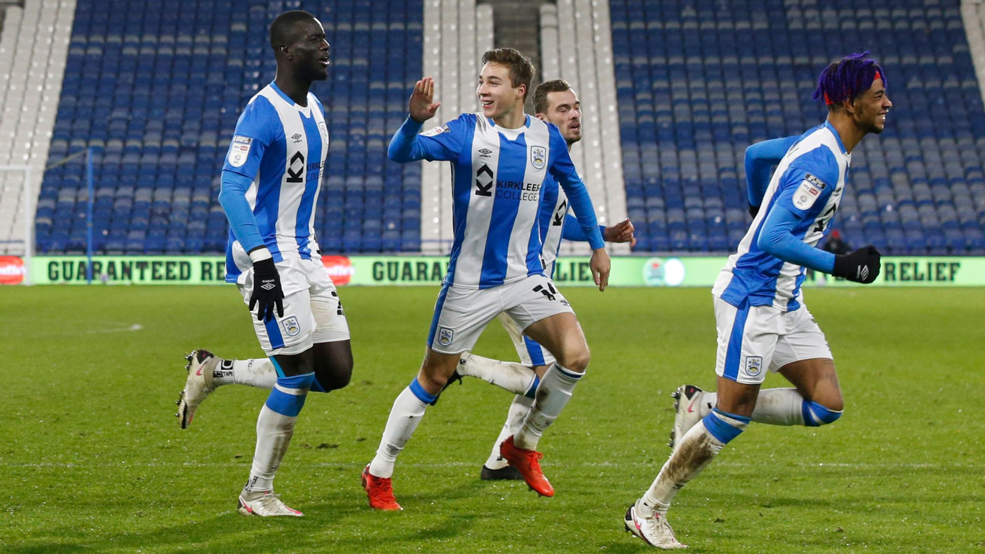 Sarr double fires Huddersfield to victory