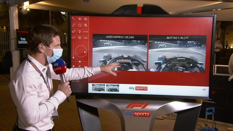 Sky F1's Anthony Davidson runs through how Max Verstappen took first pole position in Abu Dhabi.