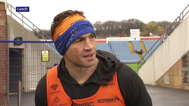 Former Leeds Rhinos star Kevin Sinfield has just one race to run in his efforts to run seven marathons in seven days to raise money and awareness for Rob Burrow in his fight against motor neurone disease.