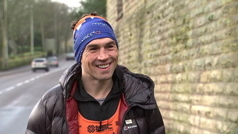 Kevin Sinfield says he feels 'completely overwhelmed' after raising more than £1m for the Motor Neurone Disease Association by completing seven marathons in seven days to support his close friend and former team-mate Rob Burrow